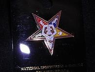 OES 5 Color Star Lapel Pin Gold trim.
