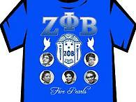 Zeta Founders Blue T Shirt Blue with founders.
