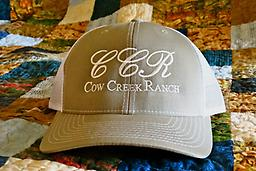 Cow Creek Ranch Cool Cap/ Tan & White Cow Creek Ranch Cap: Only available here!