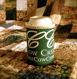 Cow Creek Ranch Koozie Quality Koozie: Can glove design