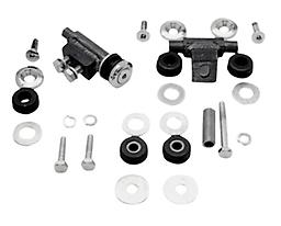 FLATSIDE FAT BOB GAS TANK MOUNTING KIT FOR BIG TWINS FITS SOFTAIL MODELS 1984/1999 AND FXWG 1985/1986. SHOW CROMED BEVEL WASHERS AND COUNTERSUNK ALLEN HEAD BOLTS FOR THAT CUSTOM LOOK. COMPLETE WITH ALL HARDWARE AND RUBBER GROMMETS NECESSARY TO MNT TANKS