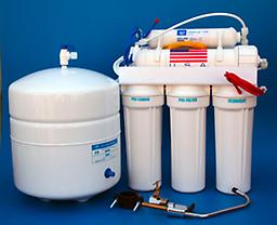 RO-5-Stage 1 Reverse Osmosis membrane 50GPD in a housing 1 Sediment filter at 5 micron 1 Carbon Block filter at 5 micron 1 Granular carbon cartridge Fine Grain 1 In line coconut shell granular carbon US made