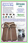"Gemstone Crystal Medicine Bag - STRESS Relief Gemstone Crystal Combination - Our Stress Relief Gemstone Crystal Medicine Bag is made of soft genuine leather and includes 9 high quality genuine natural gemstones. Leather pouch 2 1/2"" x 3 1/2""."