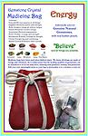 """Gemstone Crystal Medicine Bag - ENERGY Gemstone Crystal Combination - Our Energy Gemstone Crystal Medicine Bag is made of soft genuine leather and includes 9 high quality genuine natural gemstones. Leather pouch 2 1/2"""" x 3 !/2""""."""