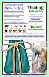 Gemstone Crystal Medicine Bag - HEALING Body and Mind - Gemstone Crystal Medicine Bag - Healing Body and Mind.