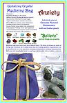 """Gemstone Crystal Medicine Bag - ANXIETY Relief - Gemstone Crystal Medicine Bag to aide with anxiety. Includes individually selected customized combination of genuine natural gemstones to help reduce anxiety and a 2 1/2"""" x 3 !/2"""" leather pouch."""