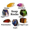 444RS SoapRocks - SoapRocks are replicas of the earth's precious stones, made from mild, extra long lasting, vegetable glycerin soap. Pictures do not do these justice, they are beautiful! People love them as gifts!