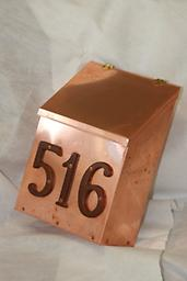 Copper mail box 16 oz. Copper Mail Box with Brass hinges.
