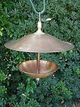 "Copper and brass birdfeeder - 12"" copper and brass birdfeeder"