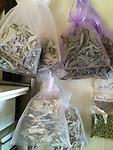 The Mystics Touch ~ Native White Sage - Packaged in a beautiful bag, ready to give as a gift or for yourself. Approx 4 oz Large loose leaf and sprigs.
