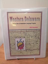 Introduction to Western Delaware Program has 3-CDs and a 21-lesson Workbook with pronunciation guide and 200-word glossary for the Leni Lenape language. Developed by the western Delaware tribe of Oklahoma. Price includes shipping.