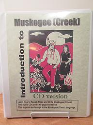 Introduction to Muskogee Creek 2 CDs with workbook. Elder James Wesley talks about how things used to be for the people and the language. Price includes shipping.