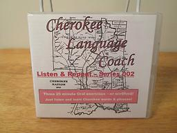Cherokee Language Coach 02 CD with three 25-minute lessons: #4 - Table conversations, #5 - Going Shopping, #6 - The Human Body. Price includes shipping.