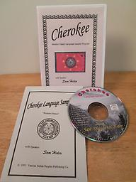Western Cherokee Sampler Program Phrase booklet and 1 hour CD in the western Cherokee dialect with Sam Hider. You will hear the full pronunciation of the syllabary plus over 97 Cherokee words and phrases. Price includes shipping.