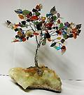 CHAKRA GEM TREE - This beautiful piece is wrapped with silver wire. Each color stone representing a Chakra.