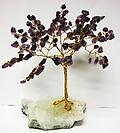 AMETHYST GEM TREE - Beautiful gem tree is wrapped with silver wire.
