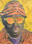 Sun Ra (Original Sold) - Prints only - Original Mixed Media on Paper 11x14, prints $60
