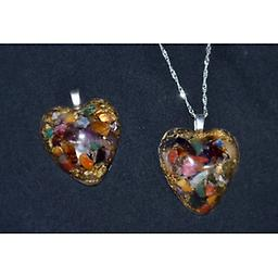 101-Medium Heart Pendants A beautiful heart pendant for the ones you love. Protecting and cleansing your Chakra, energy centers from the negative EMFs and allowing a positive, joyful flow throughout your body.