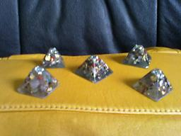 """200-Small Pyramids .75"""" tall and 1""""base Small pyramids will bring in your Angelic helpers. Place them next to your computer,microwave, television, bedroom, or the four corners of your home or office."""
