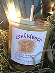 CONFIDENCE -Crystal Journey Jar @ The Mystics Touch - Burns 6-10 hours, Charged Reiki Jar- Candle Name: Confidence