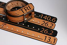"""Handcrafted Leather Belt- Unisex A unique designer produced belt, for those times you want to take a """"brake"""" in action to socialize. Made in a artist's DC workshop, on some of the finest leather. Tan and Black versions available."""