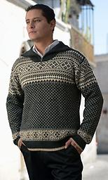 Mountain Sweater: 100% Alpaca This 100% Alpaca Mens Mountain pull over sweater is the perfect piece for both casual and dress. This soft knit sweater is full of natural tones that will match or compliment many colors.