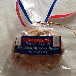 Irieon/White Coat, M.D. (50 ct.) Celebrate your next doctor with the best in quality and taste, Rosalyn's Pralines. A sweet way to say thank you to your guests.