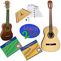 Learn 2 Play Series Guitar Pack Deluxe - Includes Student Nylon Guitar, Melody Harp & Soprano Ukulel - Learn 2 Play Series Guitar Pack Deluxe includes Soprano Ukulele, Student Nylon Guitar, Melody Harp, Guitar Tab Pocketbook and Ukulele Pocketbook.