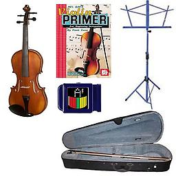 Acoustic Electric Violin Pack - 1/16 Size Violin w/Pickup, Music Stand, Book & Tuner Acoustic Electric Violin Pack includes 1/16 Size Violin w/Pickup, Music Stand, Violin Primer Book & Snark SN-1 Tuner.
