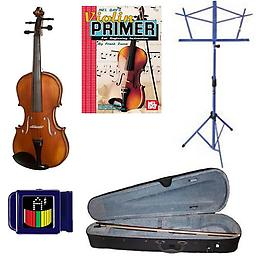 Acoustic Electric Violin Pack - 1/2 Size Violin w/Pickup, Music Stand, Book & Tuner Acoustic Electric Violin Pack includes 1/2 Size Violin w/Pickup, Music Stand, Violin Primer Book & Snark SN-1 Tuner.