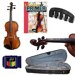 Learn 2 Play Acoustic Electric Violin - Violin (1/2 Size) w/Pickup, Finger Markers, Violin Primer Bo Learn 2 Play Acoustic Electric Violin Pack includes Violin (1/2 Size) w/Pickup, Finger Markers, Violin Primer Book, Snark SN-1 Tuner & Mute.