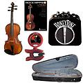RockStar Violin Pack - Acoustic Electric Violin (1/10 Size) w/Pickup, Mini Amp, Violin Tuner/Metrono - RockStar Violin Pack includes Acoustic Electric Violin (1/10 Size) w/Pickup, Mini Amp, Snark SN-2 Tuner/Metronome & Rock Riffs Violin Book.
