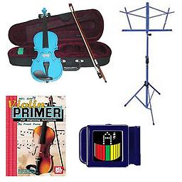 Acoustic Electric Violin Pack Blue- Full Size Violin w/Pickup, Music Stand, Book & Tuner Acoustic Electric Violin Pack includes Blue- Full Size Violin w/Pickup, Music Stand, Book & Tuner.