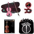 RockStar Violin Pack Pink- Acoustic Electric Violin w/Pickup, Mini Amp, Violin Tuner/Metronome & Roc - RockStar Violin Pack includes Pink- Acoustic Electric Violin w/Pickup, Mini Amp, Violin Tuner/Metronome & Rock Riffs Violin Book.