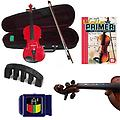 Learn 2 Play Acoustic Electric Violin Red- Violin (Full Size) w/Pickup, Finger Markers, Violin Prime - Learn 2 Play Acoustic Electric Violin pack includes Red- Violin (Full Size) w/Pickup, Finger Markers, Violin Primer Book, Tuner & Mute.
