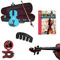 Violin for Beginners Pack - Blue Violin (Full Size), Finger Markers, Violin Primer Book, Tuner & Mut - Violin for Beginners Pack includes Blue Violin (Full Size), Finger Markers, Violin Primer Book, Tuner & Mute.
