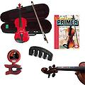 Violin for Beginners Pack - Red Violin (Full Size), Finger Markers, Violin Primer Book, Tuner & Mute - Violin for Beginners Pack includes Red Violin (Full Size), Finger Markers, Violin Primer Book, Tuner & Mute.