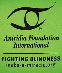 "Adult AFI ""Fighting Blindness"" Logo T-shirt Support AFI and spread awareness by sporting Aniridia Foundation International's logo."