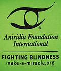 "Adult AFI ""Fighting Blindness"" Logo T-shirt - Support AFI and spread awareness by sporting Aniridia Foundation International's logo."