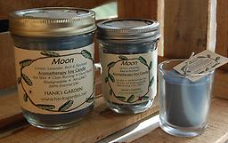 MOON Aromatherapy Soy Candle-25% off Clean Burning Soy Candles with 100% Pure Essential Oils of LEMON, LAVENDER, BASIL & PATCHOULI. Deep Blue candle with Smoky/Herbal Aroma!