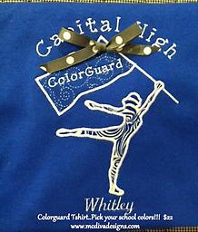 Colorguard Tshirt...Your school and colors!!! Support your team!!!