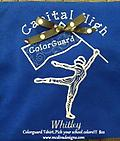 Colorguard Tshirt...Your school and colors!!! - Support your team!!!