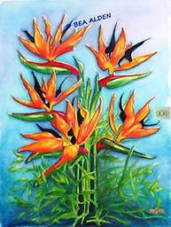 BIRDS OF PARADISE RISING Brilliant Tropical Flowers stretch upwards from their nest of leaves to light up your wall. Must have!