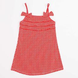 Funky Red SwimDress Because little girls like wearing beach dresses, even in the water, Ducksday launches a swimdress: a swimsuit and beach dress in one!