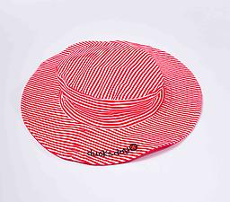 Ducksday Summer Hat - Red Stripe Ducksday Hats are soft, suitable for salt or chlorinated water, and provide protection from harmful UV rays.