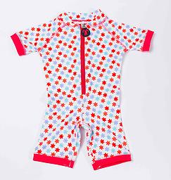 Ducksday Summer Surfsuit - Lilly Ducksday Surfsuits are soft, suitable for salt or chlorinated water, and provide protection from harmful UV rays. Snaps inside the leg make dressing and changes easier, especially with a wet suit!