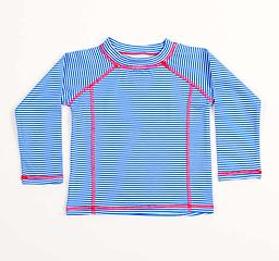 Ducksday Summer Rashguard - Blue Stripe Available in long sleeves, Ducksday Rashguards are soft, suitable for salt or chlorinated water, and provide protection from harmful UV rays.