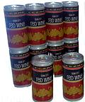 Cezar Red cans 6 pack - Cezar Red 12.5% alc. 6 cans equal 1 1/2 bottles, Premium wine in a can,