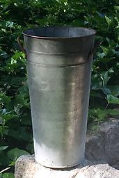 French Flower Bucket Add rustic charm to any event with this aged zinc french flower bucket. It's the perfect container for your summer flowers.