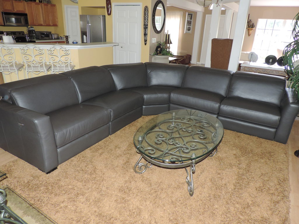 Nicolo 5 Piece Leather Reclining Sectional Sofa